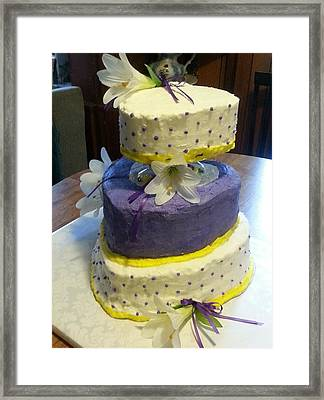 Wedding Cake For May Framed Print by Fortunate Findings Shirley Dickerson