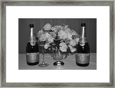 Wedding Champagne Framed Print by Frozen in Time Fine Art Photography