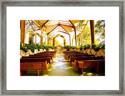 Framed Print featuring the photograph Wedding Chapel by Joseph Hollingsworth