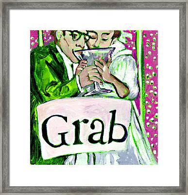 Wedding Couple Toast Framed Print by Tilly Strauss