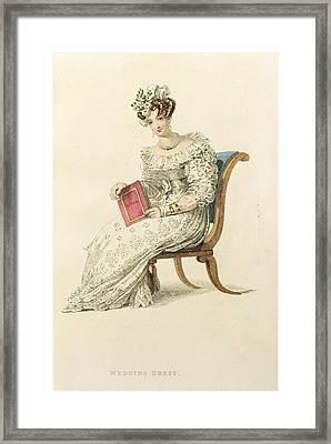 Wedding Dress, Fashion Plate Framed Print by English School