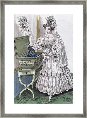 Wedding Dress Framed Print by French School