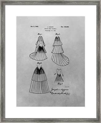 Wedding Dress Patent Framed Print