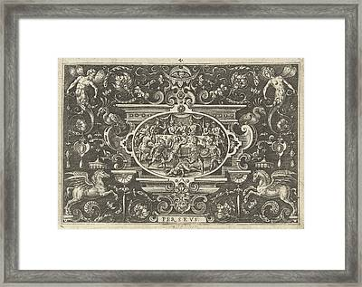 Wedding Feast Of Perseus And Andromeda, Print Maker Abraham Framed Print