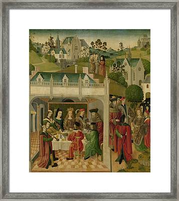 Wedding Feast Of Saint Elizabeth Of Hungary And Louis Framed Print by Litz Collection