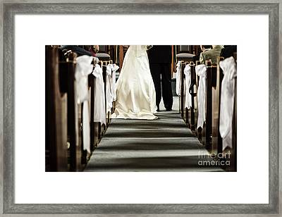Wedding In Church Framed Print
