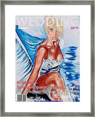 Wedding Lingerie Magazine Cover Framed Print