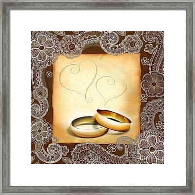 Wedding Memories V1a Classic Framed Print by Peter Awax