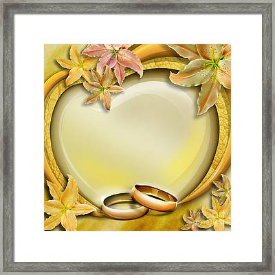 Wedding Memories V3 Framed Print