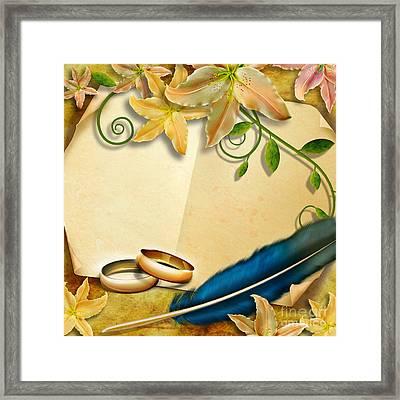 Wedding Memories V4 Natural Framed Print