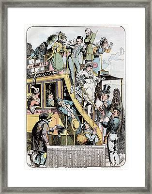 Wedding On A Tram Framed Print by Cci Archives