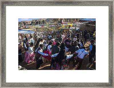 Wedding On Isla Amantani Framed Print