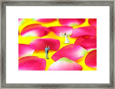 Wedding Photography Little People Big Worlds Framed Print by Paul Ge