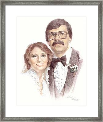 Wedding Portrait. Commission. Framed Print
