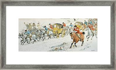 Wedding Procession Returning From Church Framed Print by Randolph Caldecott