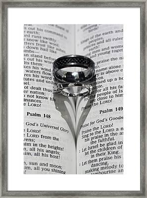 Wedding Ring Heart Framed Print by Shoal Hollingsworth