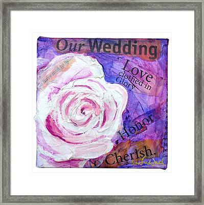 Wedding Rose Framed Print