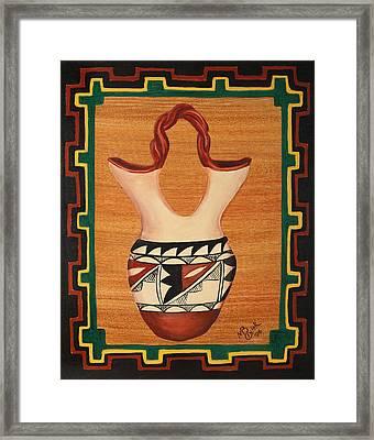 Wedding Vase Framed Print by Mary Anne Civiok