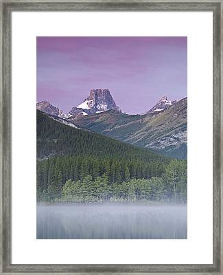Wedge Pond And The Fortress Framed Print