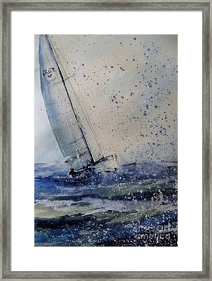 Wednesday Evening Sail Framed Print by Sandra Strohschein