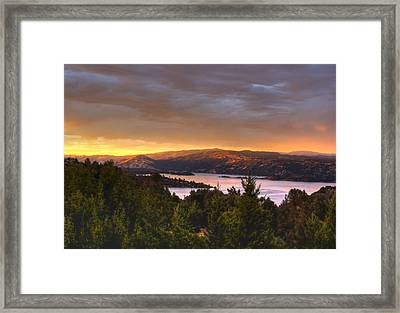 Wednesday Evening Sunset Framed Print by Kandy Hurley
