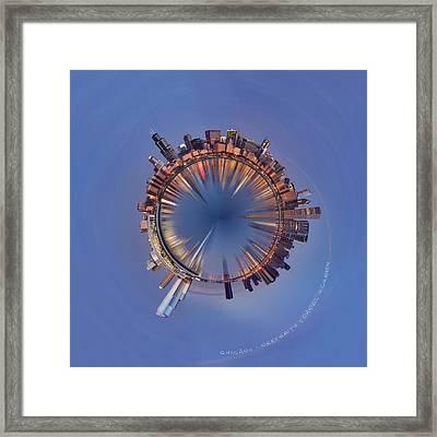 Wee Chicago Sunrise Planet Framed Print