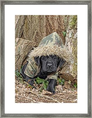 Wee Hunter Framed Print