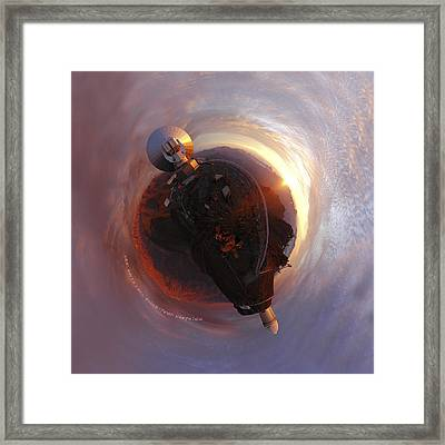 Wee La Silla Cloudscape Planet Framed Print by Nikki Marie Smith