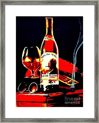Wee Nip By The Fire Framed Print