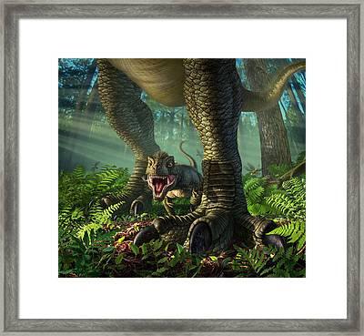 Wee Rex Framed Print