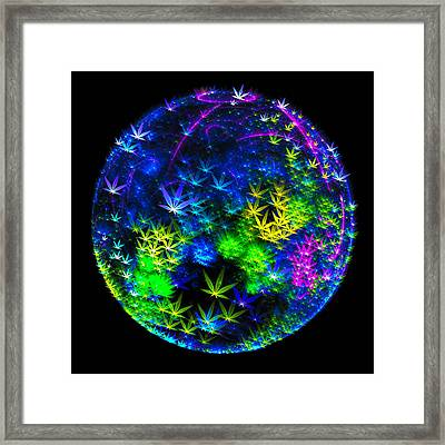 Weed Planet Full Of Cannabis Plants Framed Print by Matthias Hauser