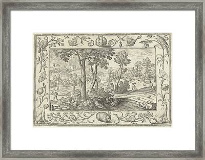 Weeds Among The Wheat, Adriaen Collaert, Eduwart Hoes Framed Print by Adriaen Collaert And Eduwart Hoes Winckel