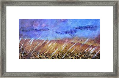Weeds Among The Wheat Framed Print
