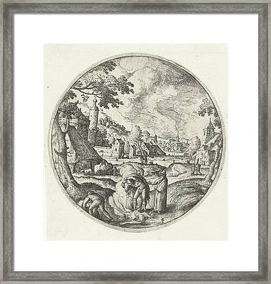 Weeds Are Burned, Hans Bol Framed Print
