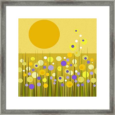 Weeds Framed Print by Val Arie