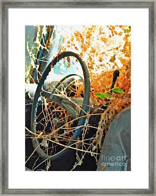 Weedy Steering Framed Print