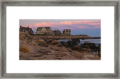Weekapaug Ri Sunset Panorama Framed Print