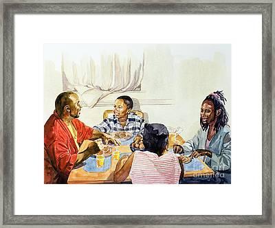 Weekend Breakfast Framed Print by Colin Bootman