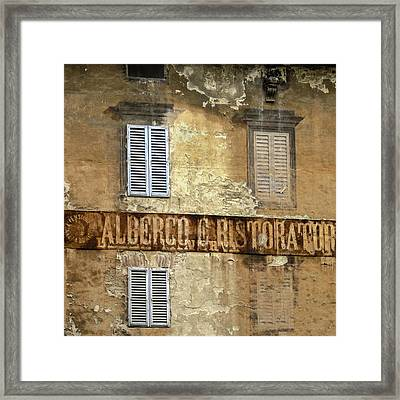 Weekend In Siena Framed Print