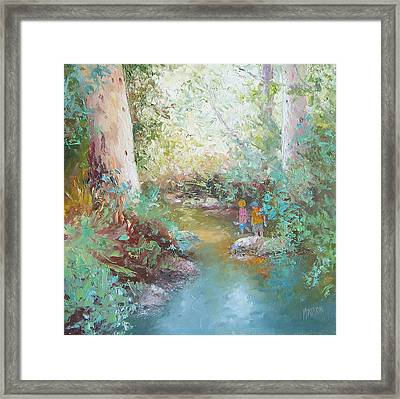 Weekends At The Creek Framed Print by Jan Matson