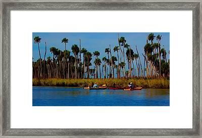 Framed Print featuring the photograph Weeki Wachee Grasslands by Pamela Blizzard