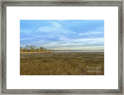 Weeks Bay In Winter Framed Print by Russell Christie
