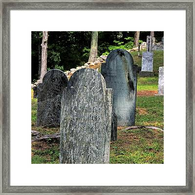 Weeks Cemetery Framed Print by Mim White