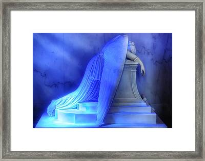 Weeping Angel Framed Print by Don Lovett