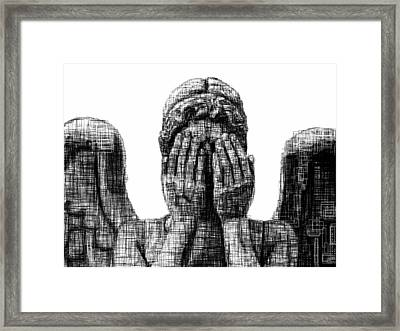 Weeping Angel Framed Print by Harold Belarmino