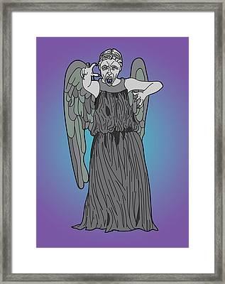 Weeping Angel Framed Print by Jera Sky