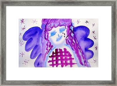 ...weeping Angel... Framed Print by Jutta Gabriel