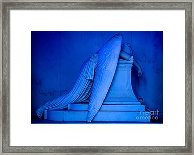 Weeping Angel Statue Framed Print by Jerry Fornarotto