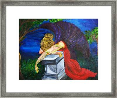 Weeping Framed Print by Jennifer Churchill