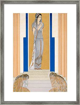 Weeping Penelope Framed Print by Francois-Louis Schmied
